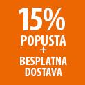 15% POPUSTA + BESPLATNA DOSTAVA