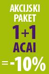Akcijski paket 1+1 Acai = -10%